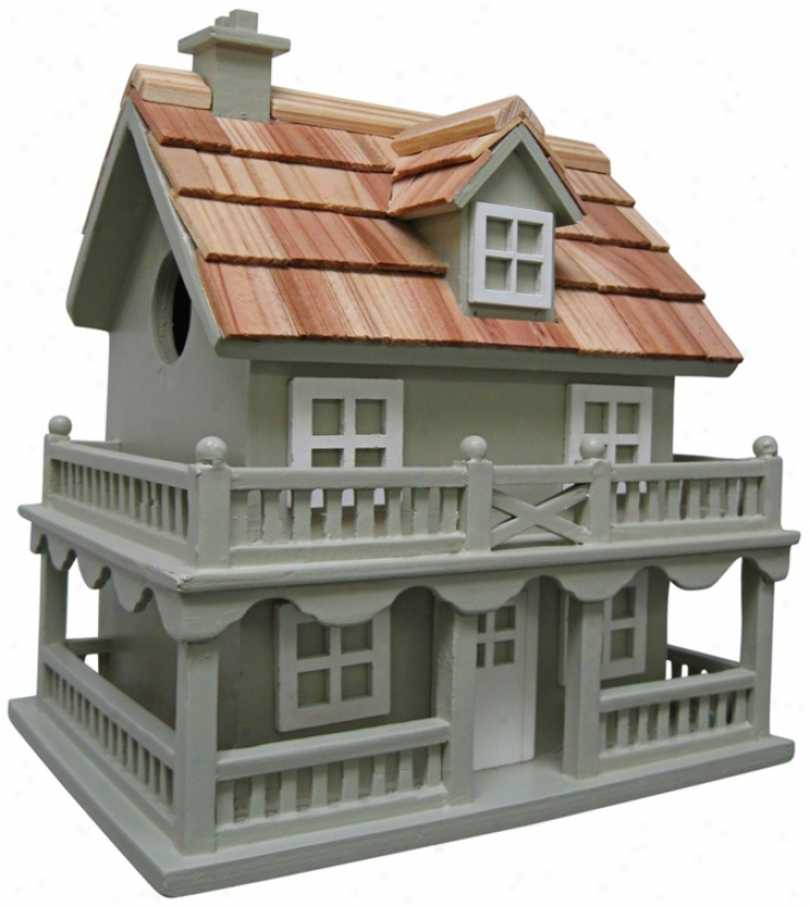 Colonial Cottage Blue Birdhouse (t3223)