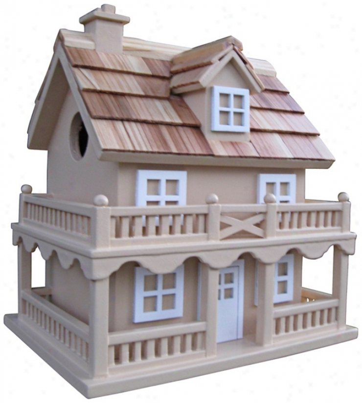Colonial Cottage Taupe Birdhouse (t3221)