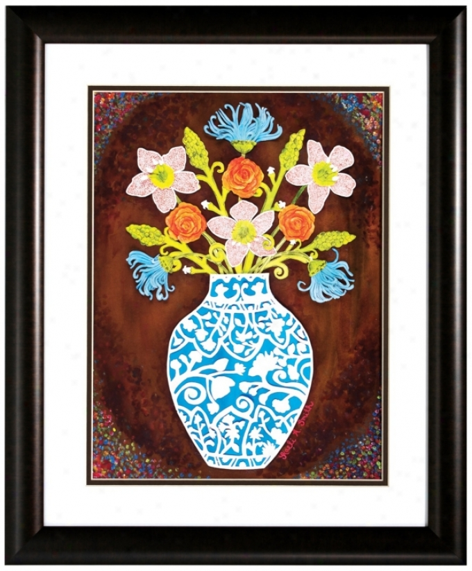 "Color Of Hope 23"" Remote from the equator Framed Floral Wall Art Print (v6609)"