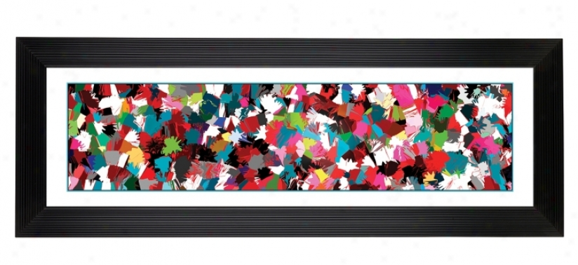 "Color Splatter Giclee 52 1/8"" Wide Wall Art (60114-80277)"