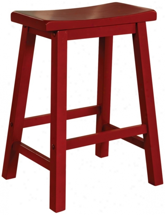 "Color Story Crimson Red 24"" Oppressive Counter Stool (n5370)"