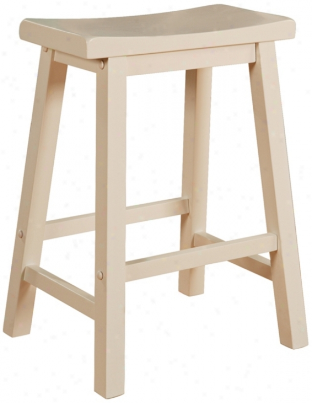 "Color Story Pure White 24"" High Counter Stool (n5361)"