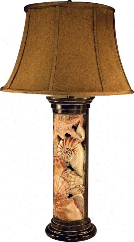 Colored Shell Column Table Lamp (m5404)