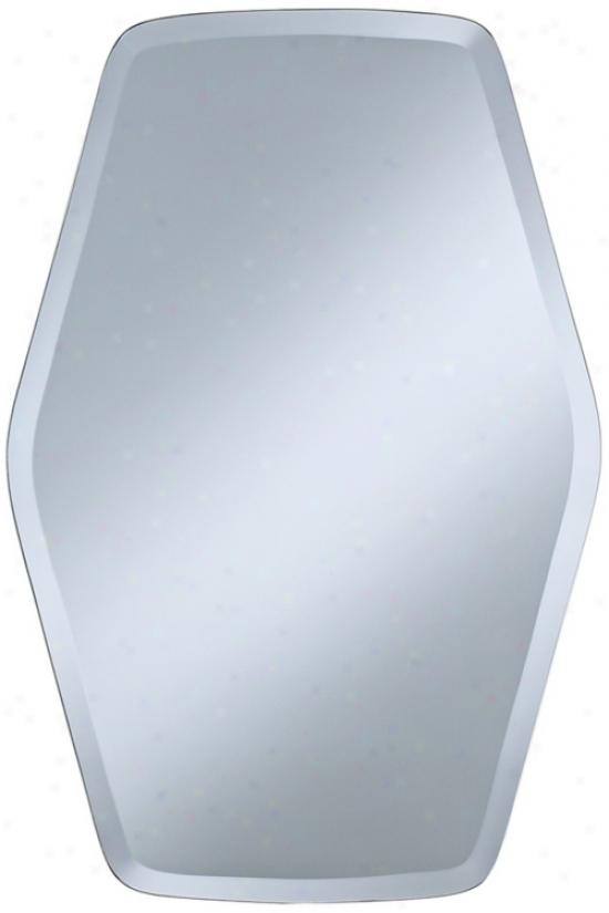 """Column Frameless 30"""" High Beveled Wall Mirror (p1630)"""