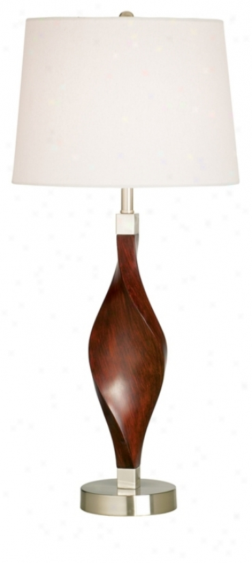 Contemporary Blends Walnut Writhe Table Lamp (92330)