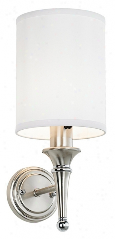 Contemporary Brushed Nickel Finish Plug-in Sconce (58058)