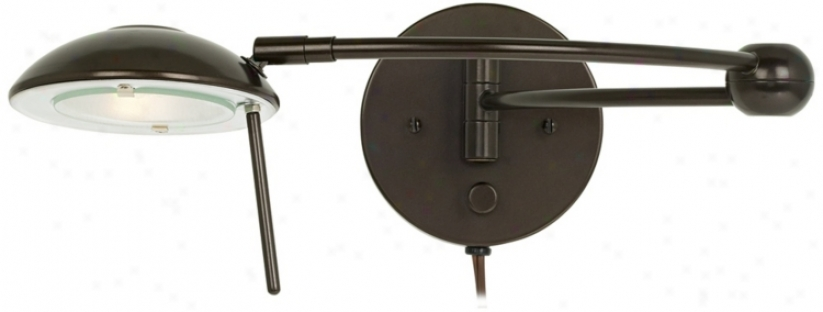 Contour Warm Bronze Plug-in Swing Arm Wall Lamp (p5391)