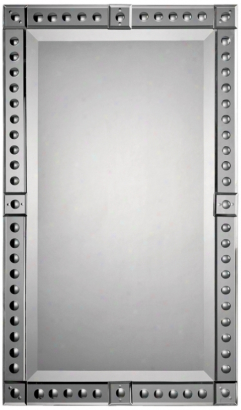 """Convex Circles Mirror Frame 34"""" High Wapl Mirror (m5001)"""