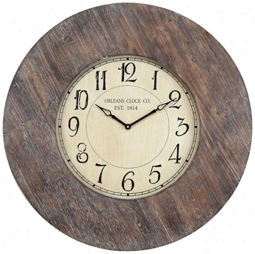 """Cooper Classics Kensington 29 1/2"""" Wide Wall Clock (u8507)"""