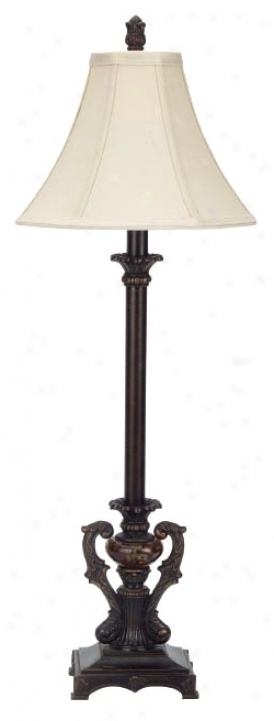 Corsican Collection Glass Font Buffeet Table Lamp (74774)
