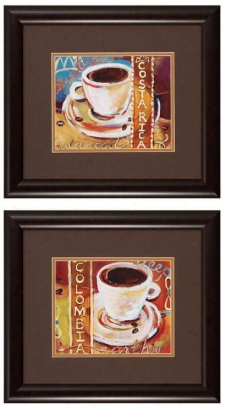 "Costa Rica And Columbia 18"" Wide Framed Wall Art (p2272)"