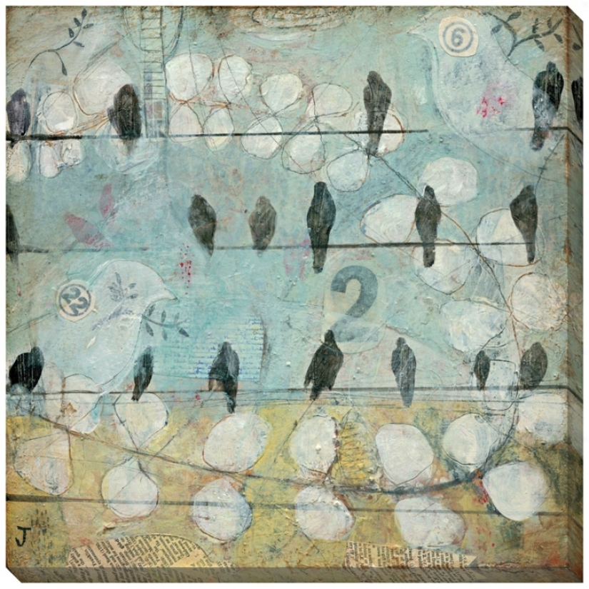 "Counting Crows Giclee Indoor/outdoor 40"" Square Wall Art (l0847)"