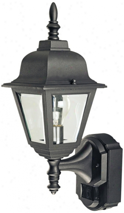 Country Cottage Black Energy Star® Outdoor Wall Light (h6924)
