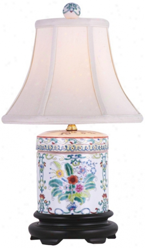 Cover Jar Multicolored Porcelain Table Lamp (k8789)