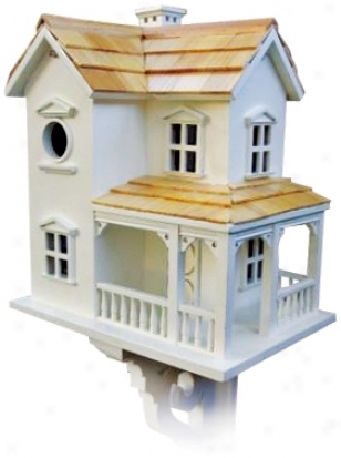 Cozy Two-story Farmhouse Bird House (h9614)