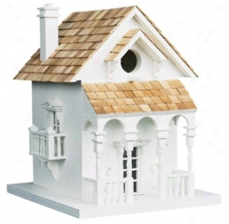 Cozy Pure Cottage Bird House (h9557)