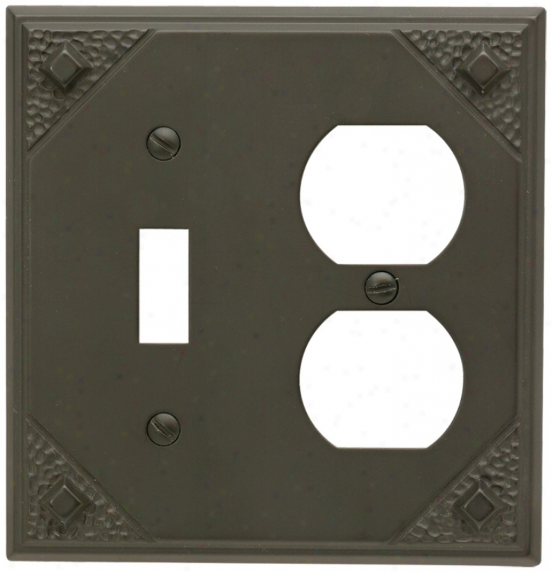 Craftsman Union Aged Bronze Finish Wall Plate (82731)
