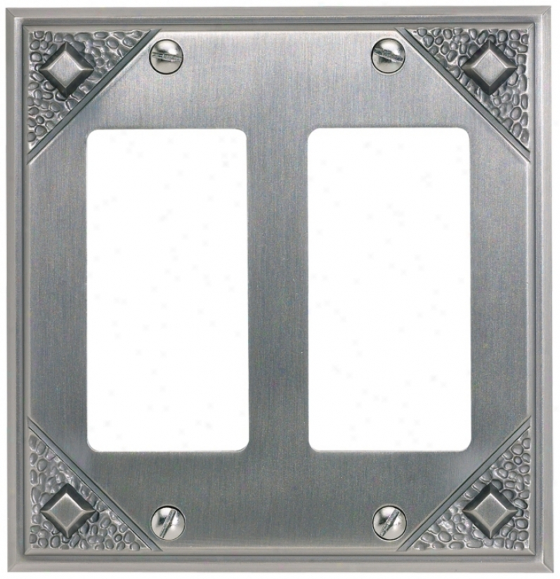 Craftsman Double Rocker Pewter Finish Wall Plate (83986)