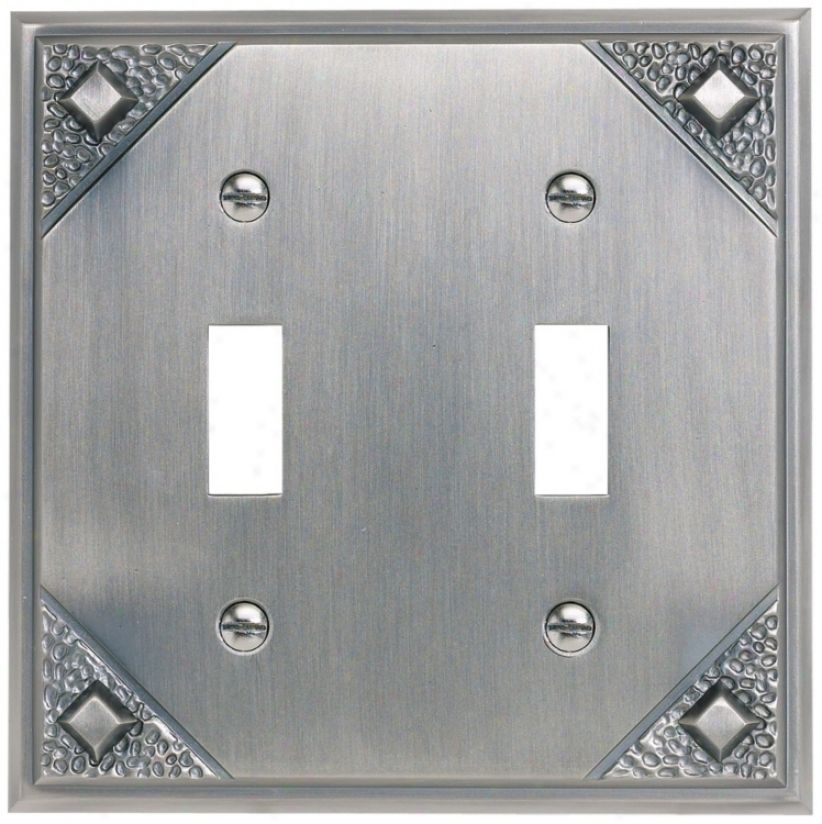 Craftsman Double Toggle Pewter Polishing Wall Plate (84013)