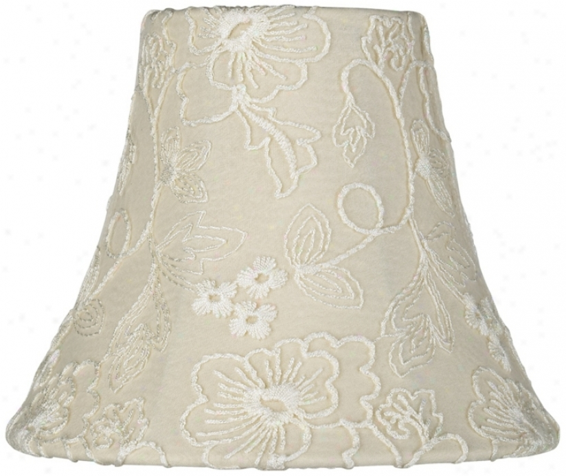 Cream Lzce Bell Shade 3x5x6 (cilp-on) (t1917)