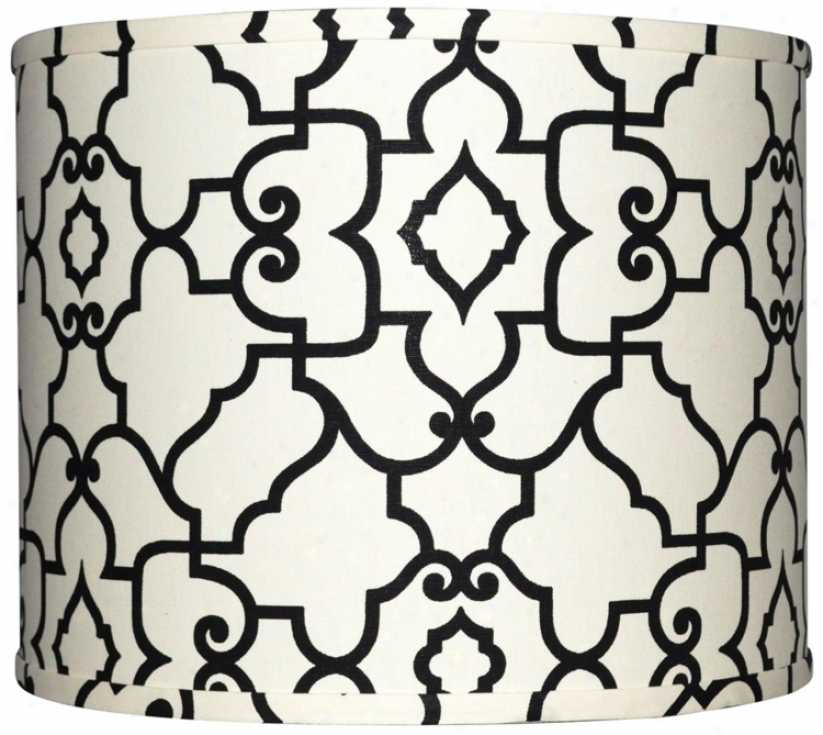 Choice part With Black Architectural Lamp Shade 16x16x13 (spider) (w0266)