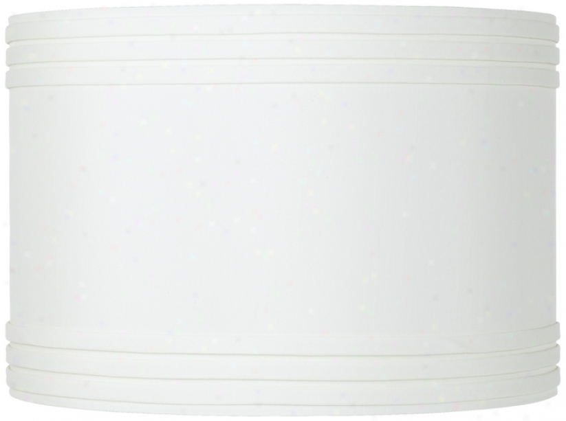 Creme Triple Pleat Drum Shade 16x16x11 (spider) (52338)