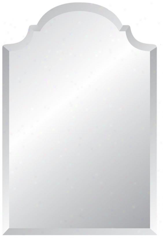 "Crown Frameless 36"" Violent Beveled Mirror (p1622)"