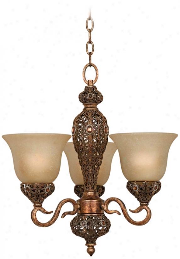 Recompense Jewel Bowl 3-light Pendamt Chandelier (k1575)