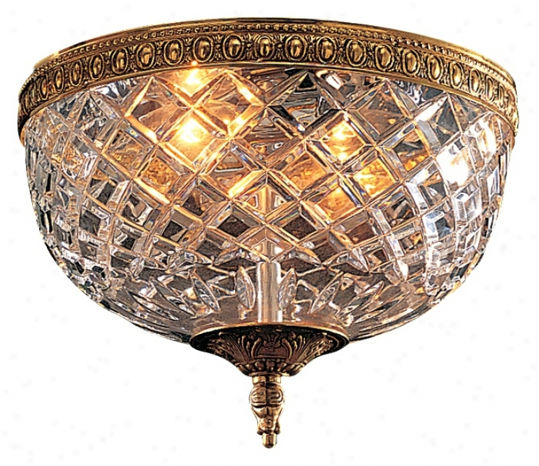 """Crystal 10"""" Wide Flushmount  Ceiling Fixture (92093)"""