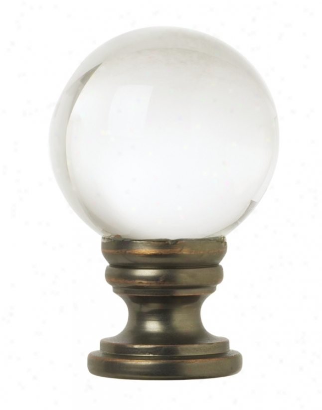 Crystal Ball Lamp Shade Finial (76724)