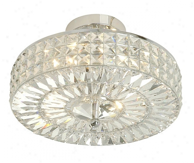 "Crystal Basket 14"" Wide Ceiling Lihgt Fixture (f1605)"
