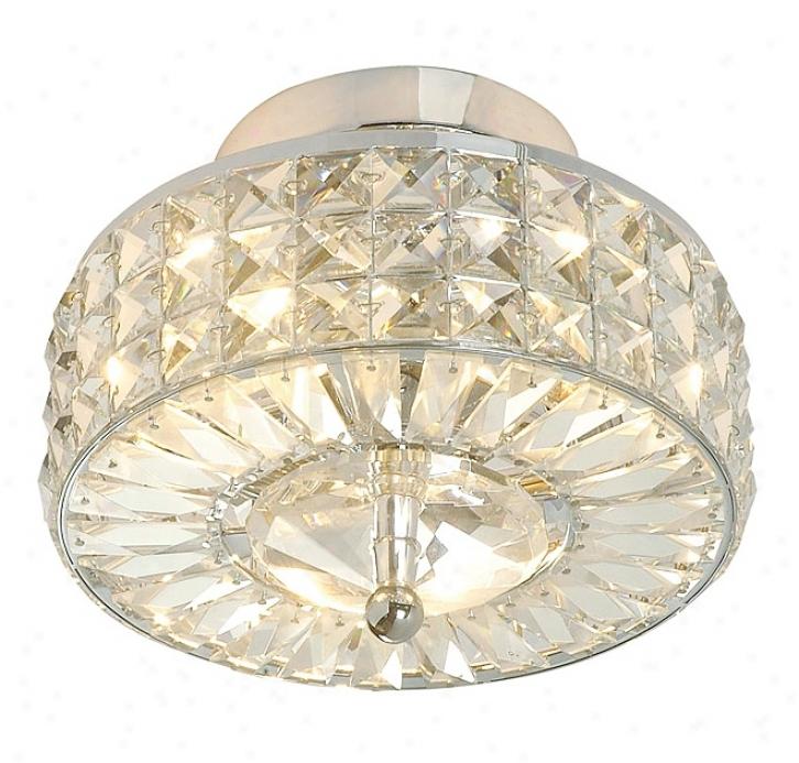 "Crystal Basket 9"" Wide Ceiling Light Fixture (f1603)"