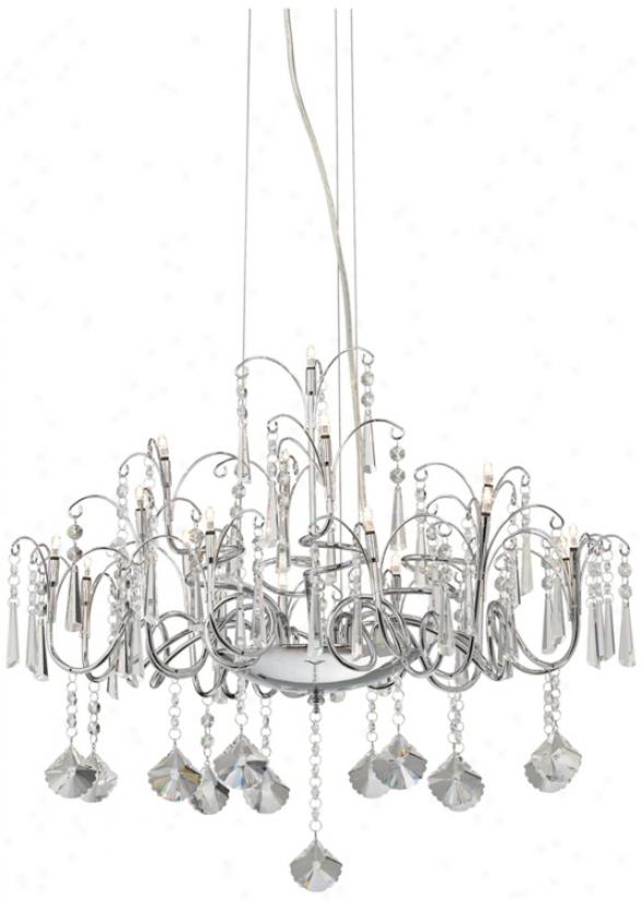 Crystal Drapings Chandelier Chandelier (p4599)