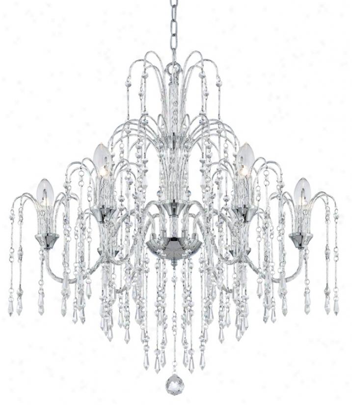 "Crystal Rain 29"" Wixe 6-light Crystal Chandelier (m7013)"