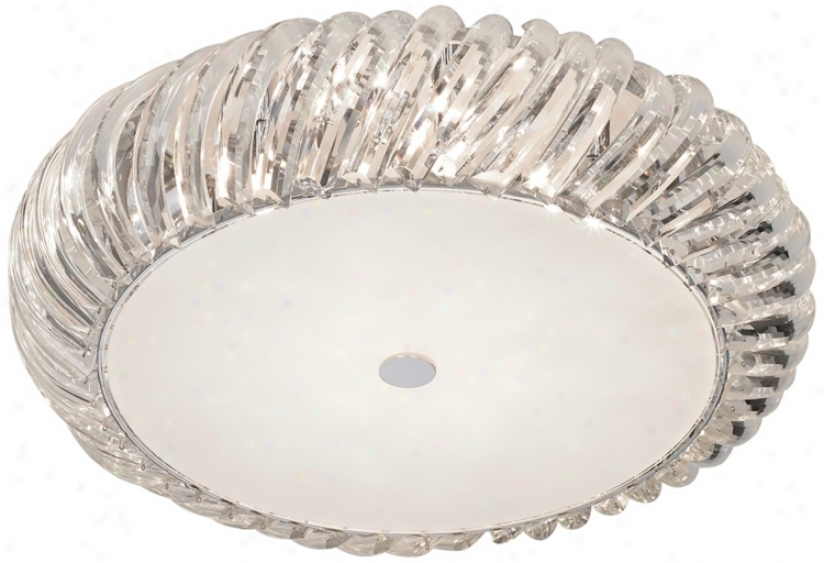 "Crystal Twist 19 3/4"" Wide Ceiling Light Fixture (m3336)"