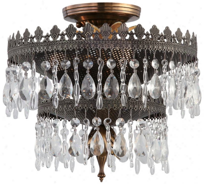 """Crystorama Alhambra Collection 12"""" Wide Ceiling Light (p3223)"""