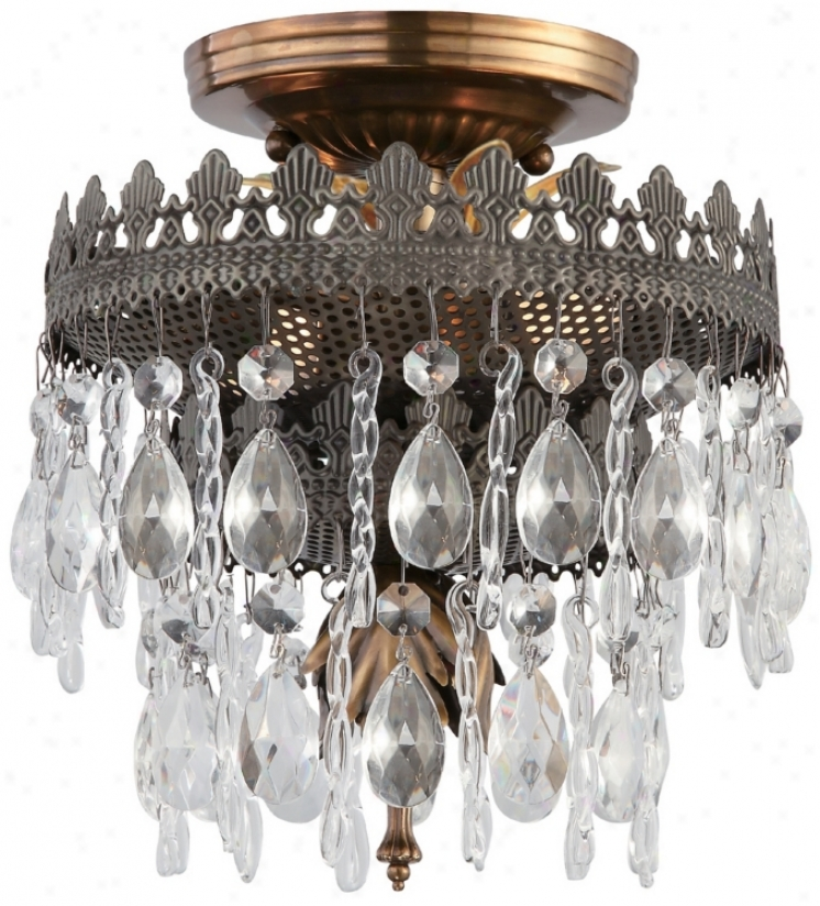 """Crystorama Alhambra Collection 8"""" Wide Ceiling Light (p3221)"""