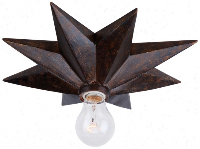 "Crystorama Astro 12"" Wide Bronze Ceiling Light Fixture (v8793)"
