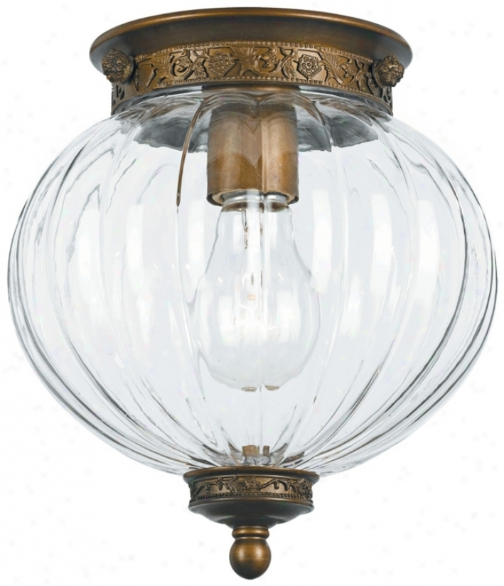 "Crystorama Camden Brass 8"" High Ceiling Light (k0637)"