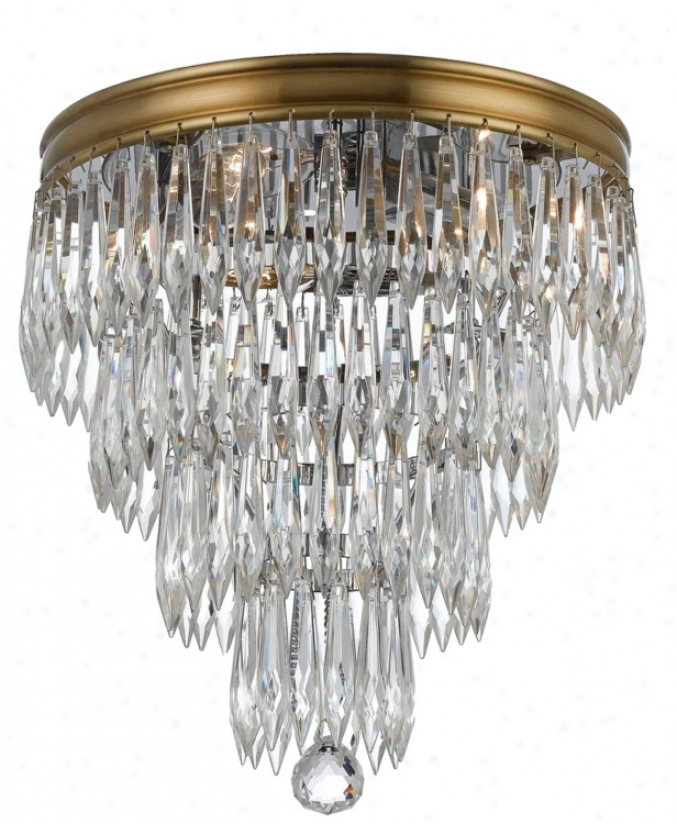 "Crystorama Chloe 10 1/2"" High Brass Ceiling Light Fixxture (v8814)"
