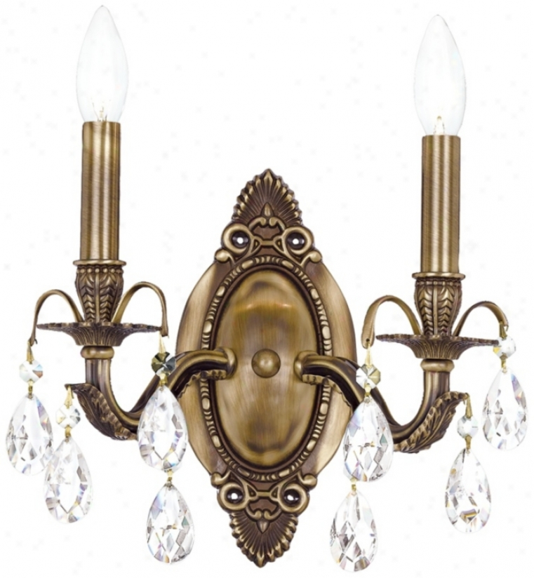 "Crystorama Dawson 2-light 12"" High Crystal Wall Sconce (v8789)"