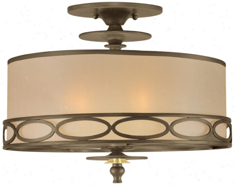 "Crystorama Eclipse Collection 16"" Wide Ceiling Light Fixture (p3236)"