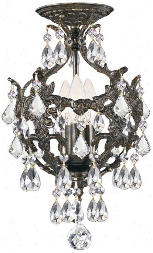 "Crystorama Legacy 3-light 14"" High Bronze Ceiling Light (v8790)"