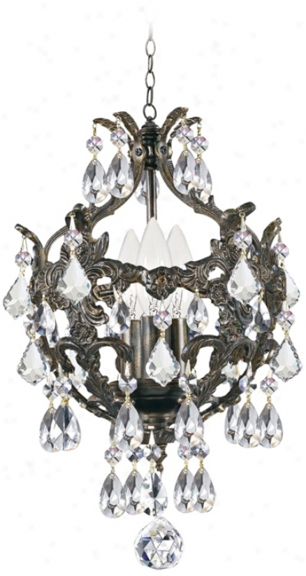 "Crystorama Legacy Collection Bronze 10"" Wide Mini Chandelier (9p624)"