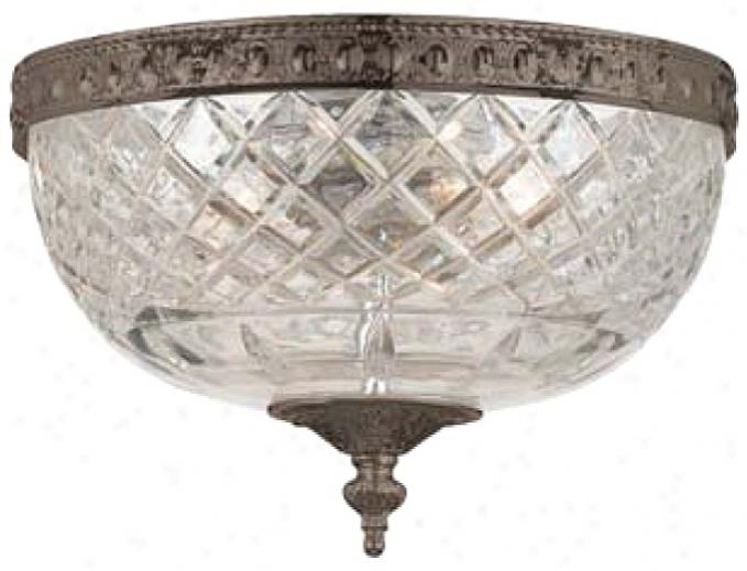 "Crystorama Majestic English Bronze 10"" Wide Ceiling Light (k0577)"