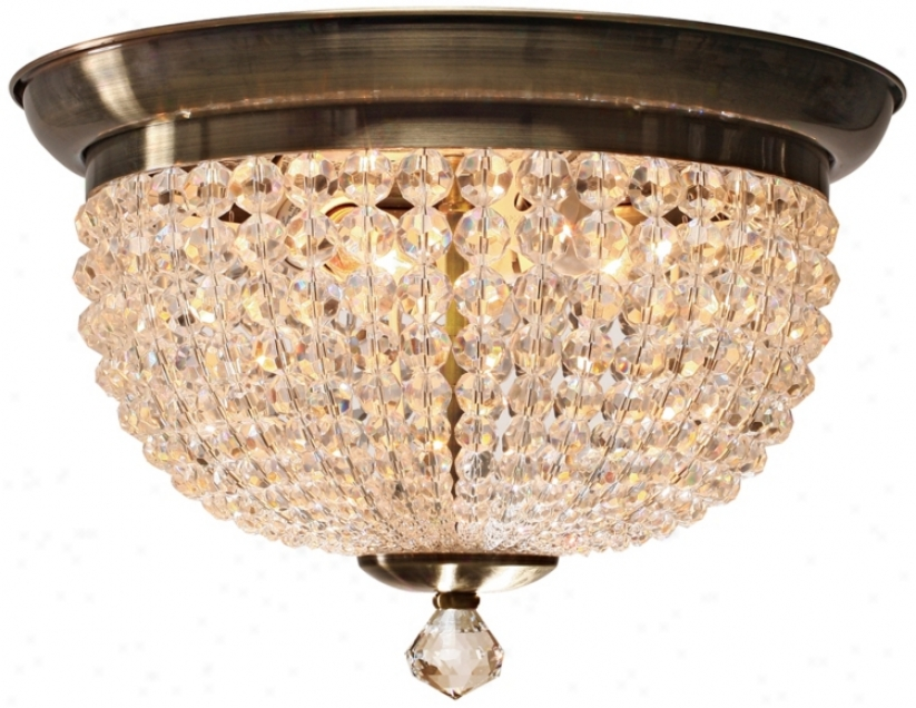 """Crystorama Newbury Colection 15"""" Wide Ceiling Light (p3232)"""