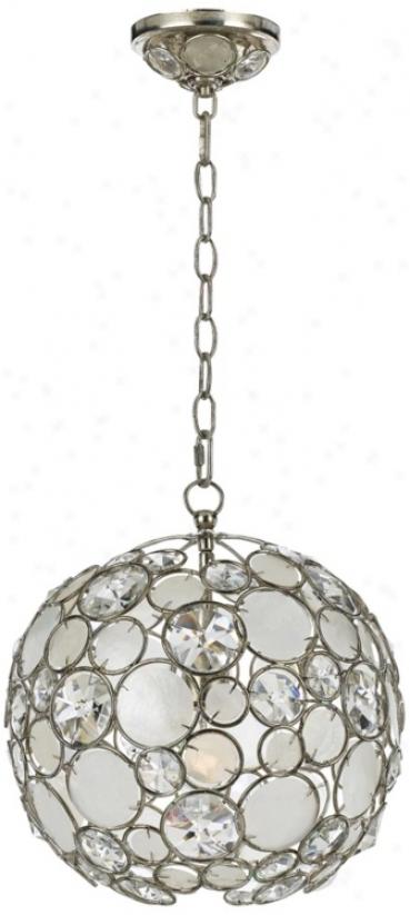 "Crystorama Palla 13"" Wide Antique Silver Pendant Light (v2030)"
