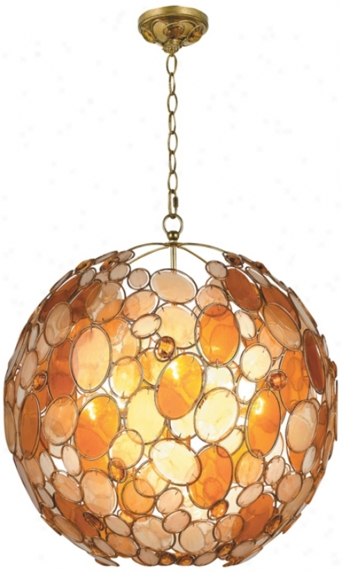 "Crystorama Palla Collection Earth Tone 21"" Wide Chandelier (r1697)"