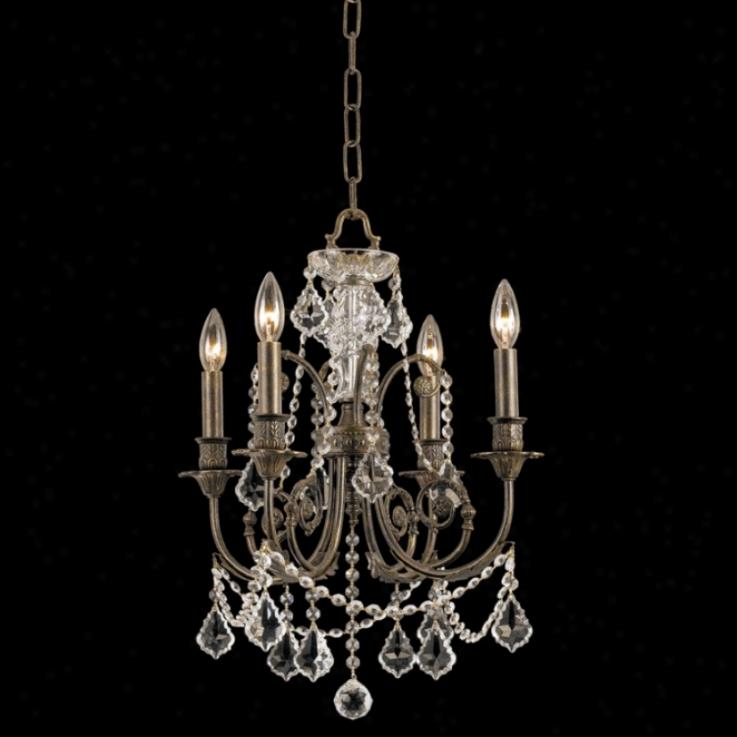 "Crystorama Regis Collection Old Silver 19"" High Chandelier (l0750)"