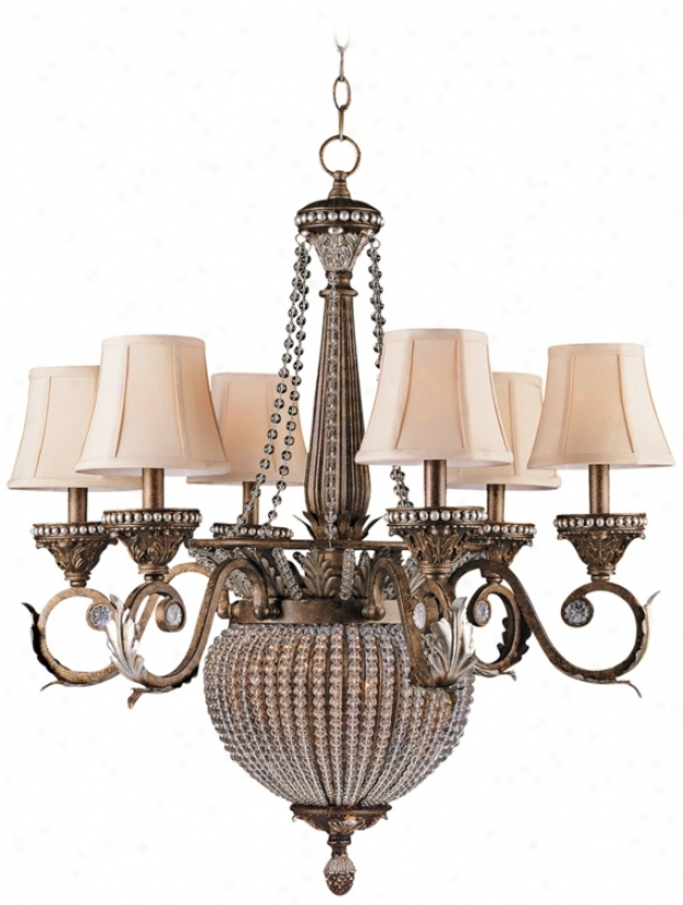 Crystorama Roosevelt Collection Patina 6 Light Chandelier (p9692)